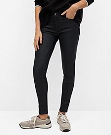 Women's Coated Kim Skinny Push-up Jeans