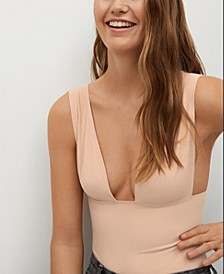 Women's Open Neckline Bodysuit