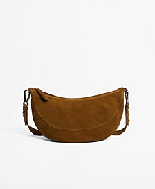 Women's Leather Half-Moon Crossbody Bag