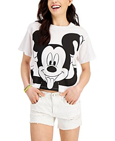 Juniors' Cotton Silly Mickey Graphic-Print T-Shirt