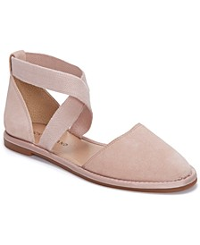Women's Atlyi Elastic Ankle-Strap Flats