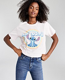 Juniors' Cotton Not Today Stitch-Graphic T-Shirt