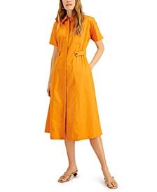 Petite Midi Shirtdress, Created for Macy's