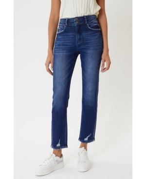Women's High Rise Slim Straight Jeans