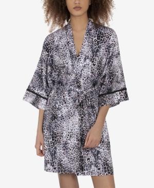Women's New Snow Leopard Wrapper Robe