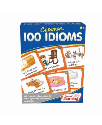 Junior Learning 100 Common Idioms Educational Activity Cards