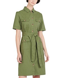 Victoria Cotton Utility Dress