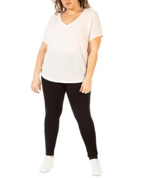 Plus Size Waffle-Knit T-Shirt