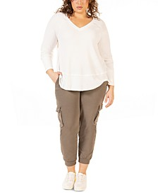 Plus Size Waffle-Knit Top
