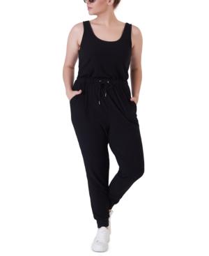 Plus Size Ribbed Jumpsuit