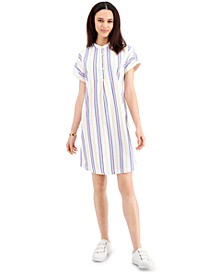 Petite Cotton Camp Shirtdress, Created for Macy's