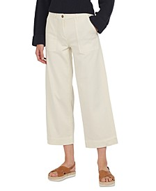 Summer Cabin Cropped Wide-Leg Trousers