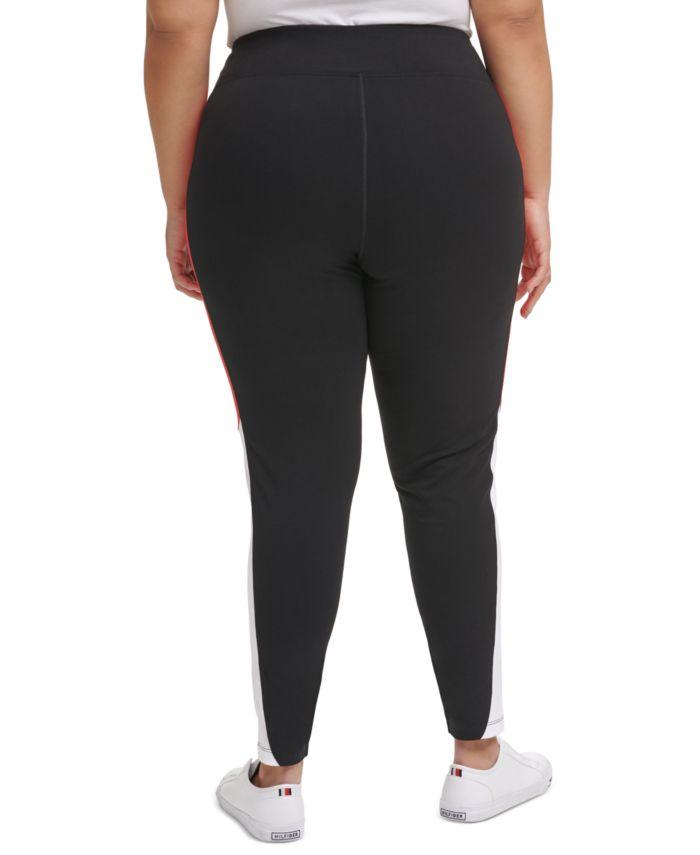 Tommy Hilfiger Plus Size High-Rise Curve Colorblocked Leggings & Reviews - Pants & Capris - Plus Sizes - Macy's