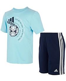 Baby Boys 2-Pc. Soccer Ball T-Shirt & Shorts Set