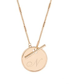 Grace Initial Toggle Necklace