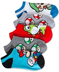 Nintendo's 6-Pk. Graphic-Print Socks, Little Boys