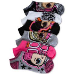 Lol Surprise! Little & Big Girls 6-Pk. No-Show Socks