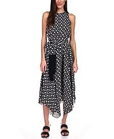 Printed Asymmetrical-Hem Dress