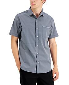 Men's Stanton Classic-Fit Stretch Geo Neat-Print Shirt