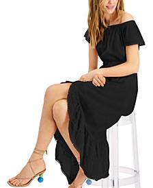 High-Low Midi Peasant Dress, Created for Macy's