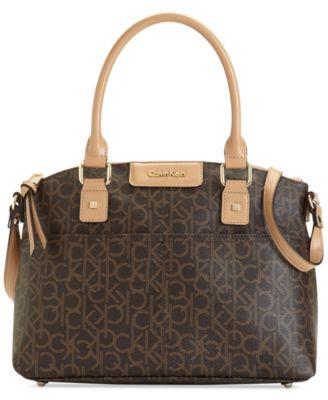Calvin klein hudson monogram satchel handbags tif 370x453 Calvin klein handbags at macys