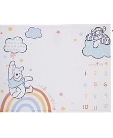 Winnie the Pooh Super Soft Milestone Baby Blanket Set, 2 Piece