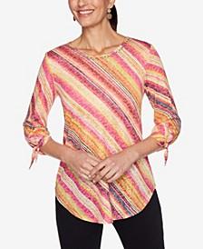 Women's Misses Knit Watercolor Top