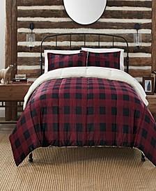 Cozy Plush Buffalo Plaid 3 Piece Comforter Set, Queen
