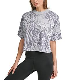 Cropped Animal-Print T-Shirt
