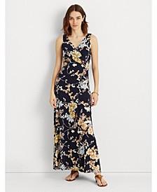 Petite Floral Jersey Sleeveless Dress