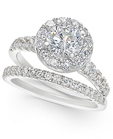 Certified Diamond Halo Bridal Set (2 ct. t.w.) in 14k White or Yellow Gold