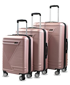Abstract Expandable 3pc Spinner Luggage Set