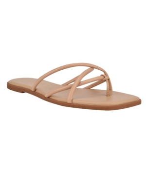 NINE WEST Sandals WOMEN'S RAZI BARELY THERE STRAPPY THONG SANDALS WOMEN'S SHOES