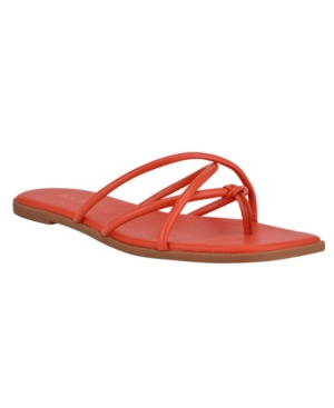 Nine West WOMEN'S RAZI BARELY THERE STRAPPY THONG SANDALS WOMEN'S SHOES