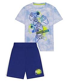 Big Boys Gaming Theme 2 Piece Short Pajama Set