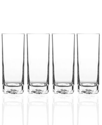 luigi bormioli glassware set of 4 on the rocks highball glasses - Highball Glasses