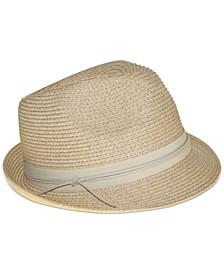 Packable Classic Braid Fedora Hat