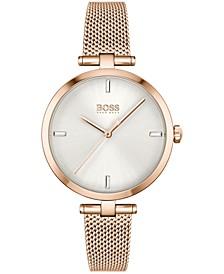 Women's Majesty Rose Gold-Tone Stainless Steel Mesh Bracelet Watch 32mm