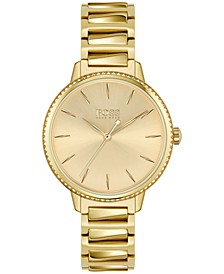 Women's Signature Gold-Tone Stainless Steel Bracelet Watch 34mm