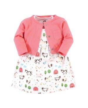 Hudson Baby TODDLER GIRLS DRESS AND CARDIGAN SET