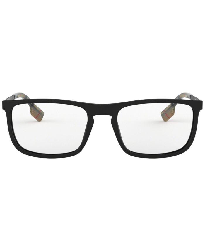 Burberry BE2288 Men's Rectangle Eyeglasses & Reviews - Home - Macy's