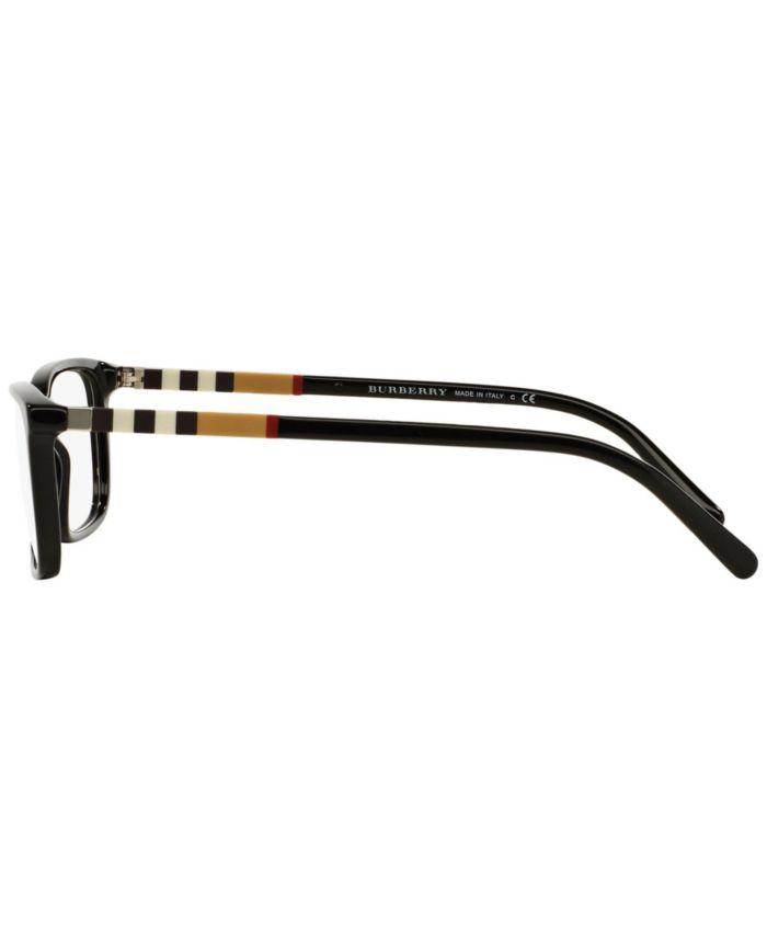 Burberry BE2199F Men's Rectangle Eyeglasses & Reviews - Home - Macy's