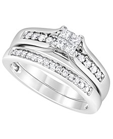 Diamond Princess Quad Bridal Set (1/2 ct. t.w.) in 14K White Gold