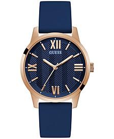 Men's Blue Silicone Strap Watch 42mm