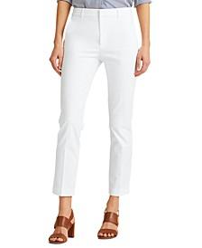 Petite Stretch Cotton Cropped Pants