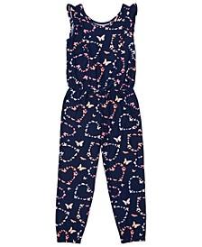 Little Girls All over Print Jumpsuit