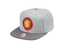 Brooklyn Nets Cool Gray Snapback Cap