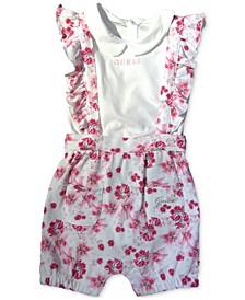 Baby Girls 2-Pc. Floral-Print Bodysuit & Bubble Shorts Set