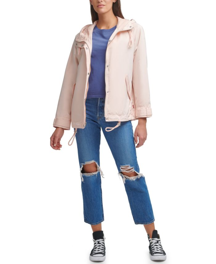Levi's Drop Shoulder Hooded Raincoat & Reviews - Jackets & Vests - Juniors - Macy's