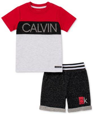 Baby Boys 2-Pc. Logo T-Shirt & Shorts Set